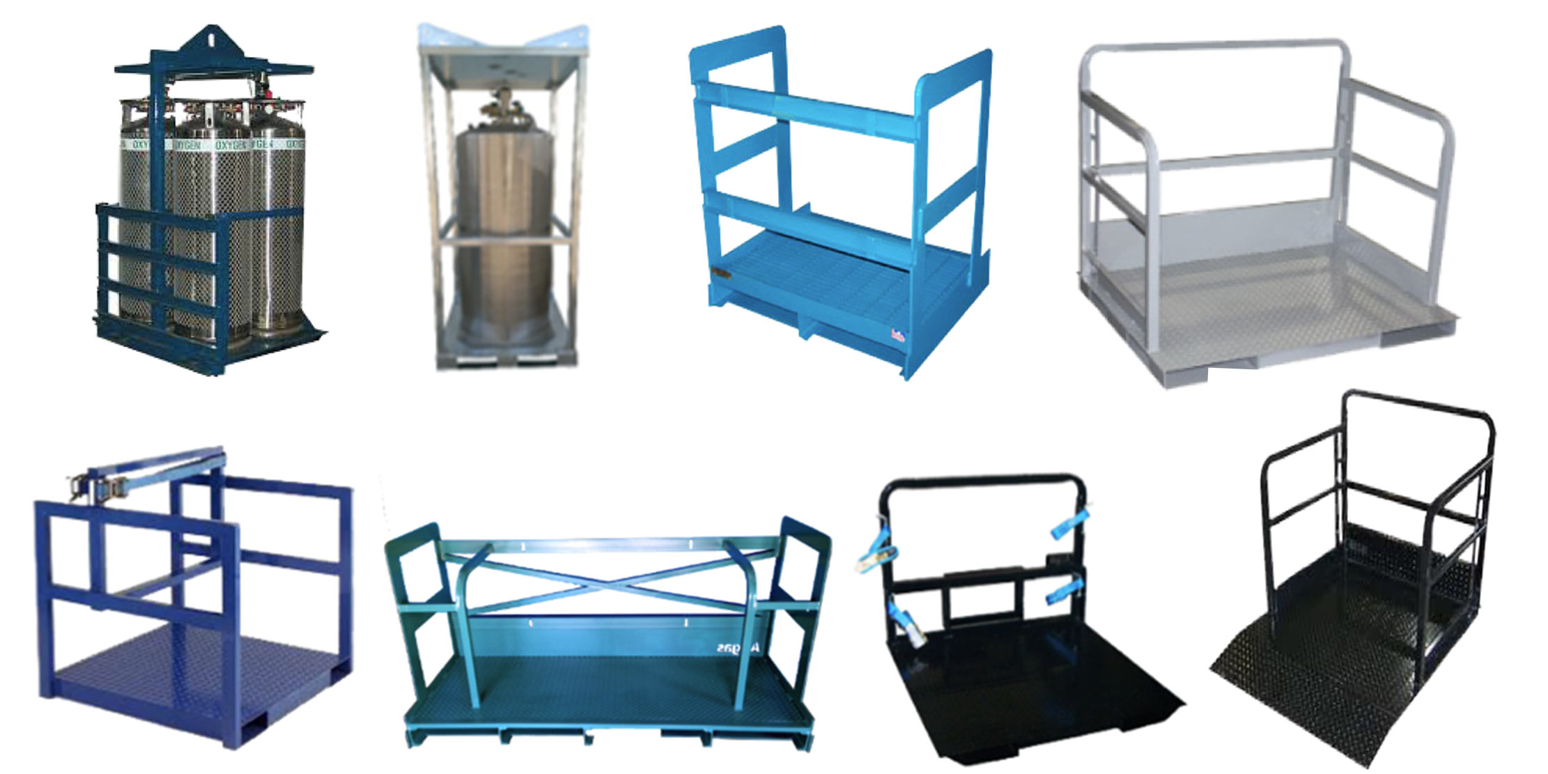 Steel Pallets for High pressure gas bottles