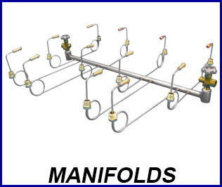 Compressed gas manifolds
