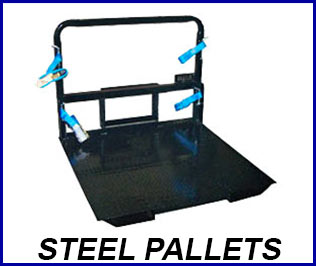 Compressed gas steel pallets